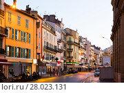 Купить «View on colorful streets of Cannes in France», фото № 28023131, снято 3 декабря 2017 г. (c) Яков Филимонов / Фотобанк Лори