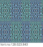 Купить «Ornate Bold Seamless Pattern», фото № 28023843, снято 21 сентября 2018 г. (c) PantherMedia / Фотобанк Лори