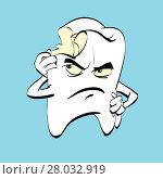 Купить «The aching tooth with caries, a comic book character», фото № 28032919, снято 17 марта 2018 г. (c) PantherMedia / Фотобанк Лори