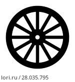 Купить «Wagon Wheel Silhouette», иллюстрация № 28035795 (c) PantherMedia / Фотобанк Лори