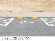 Купить «Handicapped Parking Spaces», фото № 28038151, снято 25 августа 2019 г. (c) PantherMedia / Фотобанк Лори