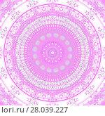 Купить «Abstract geometric seamless background. Concentric circle ornament violet, pink and white, ornate and dreamy.», фото № 28039227, снято 18 октября 2018 г. (c) PantherMedia / Фотобанк Лори