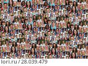 Купить «young people background laughing happy collage people big group», фото № 28039479, снято 16 октября 2019 г. (c) PantherMedia / Фотобанк Лори