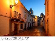 Купить «Rua Henrique Correia da Silva, in background belltowers of Santo Antonio church, historic part of Lagos, Algarve, Portugal, Europe», фото № 28043731, снято 17 ноября 2017 г. (c) age Fotostock / Фотобанк Лори
