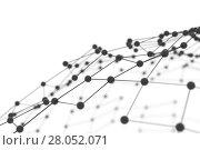 Купить «Plexus background with lines and spheres», иллюстрация № 28052071 (c) Кирилл Черезов / Фотобанк Лори