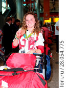 Купить «Team GB arrive back at Heathrow Airport, London, after returning from Rio de Janeiro following the 2016 Summer Olympic Games. Featuring: Amy Tinkler Where...», фото № 28054775, снято 23 августа 2016 г. (c) age Fotostock / Фотобанк Лори