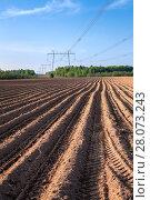 Купить «Подготовка почвы перед посевом, сельское хозяйство», фото № 28073243, снято 21 мая 2011 г. (c) Кекяляйнен Андрей / Фотобанк Лори