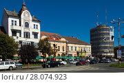Купить «Streets of Satu Mare in Romania», фото № 28074923, снято 14 сентября 2017 г. (c) Яков Филимонов / Фотобанк Лори