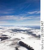 Купить «Seismic survey profiles in Western Siberia», фото № 28084947, снято 6 марта 2017 г. (c) Владимир Мельников / Фотобанк Лори