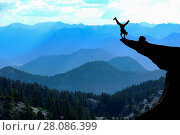 Купить «Bravest man in the cliff», фото № 28086399, снято 24 июля 2019 г. (c) easy Fotostock / Фотобанк Лори