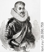 "Johann Tserclaes, Count of Tilly, 1559 â. ""1632. Field marshal, commander of the Catholic League's forces in the Thirty Years' War. From Ward and Lock... Редакционное фото, фотограф Classic Vision / age Fotostock / Фотобанк Лори"