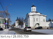 Купить «Кострома, Богоявленский-Анастасиин монастырь», фото № 28093759, снято 24 февраля 2018 г. (c) Natalya Sidorova / Фотобанк Лори