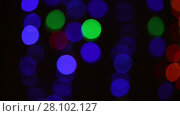 Купить «Abstract black background with flashing lights», видеоролик № 28102127, снято 12 февраля 2016 г. (c) Алексей Кузнецов / Фотобанк Лори