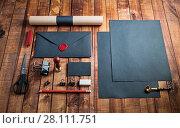 Купить «Blank black stationery», фото № 28111751, снято 13 июля 2020 г. (c) easy Fotostock / Фотобанк Лори