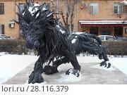 Купить «YEREVAN, ARMENIA - JAN 5, 2017: Sculpture of Lion of tires near architectural complex Cascade», фото № 28116379, снято 5 января 2017 г. (c) Losevsky Pavel / Фотобанк Лори