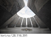 Купить «YEREVAN, ARMENIA - JAN 5, 2017: Fire in Memorial complex Tsitsernakaberd, dedicated to genocide of armenians in 1915», фото № 28116391, снято 5 января 2017 г. (c) Losevsky Pavel / Фотобанк Лори