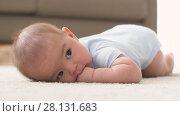 Купить «sweet little asian baby boy sucking fingers», видеоролик № 28131683, снято 27 февраля 2018 г. (c) Syda Productions / Фотобанк Лори