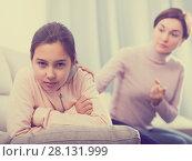 Купить «Mother reprimands her daughter», фото № 28131999, снято 26 марта 2019 г. (c) Яков Филимонов / Фотобанк Лори