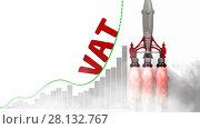 Купить «The graph of VAT (Value Added Tax) growth», видеоролик № 28132767, снято 5 марта 2018 г. (c) WalDeMarus / Фотобанк Лори