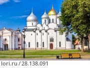 Купить «Собор Святой Софии (Софийский собор) в Великом Новгороде», фото № 28138091, снято 6 августа 2015 г. (c) Александр Гаценко / Фотобанк Лори