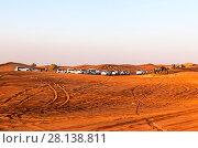 Купить «Сафари на джипах в пустыне Руб-эль-Хали, на закате. ОАЭ», фото № 28138811, снято 20 декабря 2014 г. (c) Сергей Афанасьев / Фотобанк Лори