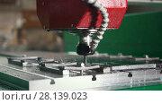 Купить «CNC milling or drilling machine, slow-motion», видеоролик № 28139023, снято 17 февраля 2020 г. (c) Константин Шишкин / Фотобанк Лори
