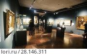 Купить «Collection of paintings and sculpture in Hungarian National Gallery in Buda Castle, former Royal Palace», видеоролик № 28146311, снято 29 октября 2017 г. (c) Яков Филимонов / Фотобанк Лори