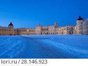 Гатчина. Гатчинский дворец зимой (2016 год). Редакционное фото, фотограф Литвяк Игорь / Фотобанк Лори