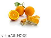 Купить «Nougat with almonds and oranges», фото № 28147031, снято 7 марта 2018 г. (c) Татьяна Ляпи / Фотобанк Лори