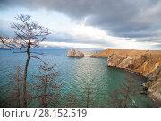 Купить «Побережье острова Ольхон на Байкале», фото № 28152519, снято 2 ноября 2014 г. (c) Момотюк Сергей / Фотобанк Лори