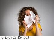 Купить «woman furiously tore the paper», фото № 28154503, снято 29 января 2018 г. (c) Типляшина Евгения / Фотобанк Лори