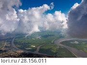Купить «View of a cumulus clouds from above», фото № 28156011, снято 29 июля 2017 г. (c) Владимир Мельников / Фотобанк Лори