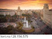 Купить «Placa de Catalonia», фото № 28156575, снято 19 мая 2017 г. (c) Яков Филимонов / Фотобанк Лори