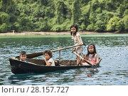 Купить «Moken girl rowing in the Mergui Archipelago, Myanmar.», фото № 28157727, снято 11 ноября 2017 г. (c) age Fotostock / Фотобанк Лори