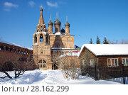 Купить «Крутицкое подворье в Москве зимним днем», фото № 28162299, снято 27 февраля 2018 г. (c) Natalya Sidorova / Фотобанк Лори