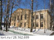 Здание средней школы №6, Няндома, Архангельская область (2009 год). Стоковое фото, фотограф Татьяна Цибушок / Фотобанк Лори
