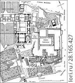 Купить «Plan of the excavations at Palatine Hill, Rome, Italy, 19th Century.», фото № 28165427, снято 29 января 2018 г. (c) age Fotostock / Фотобанк Лори