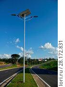 Купить «Public lighting, Jamil Nasser Highway, MG-450, 2017, Guaxupé, Minas Gerais, Brazil.», фото № 28172831, снято 9 декабря 2017 г. (c) age Fotostock / Фотобанк Лори