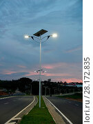 Купить «Public lighting, Jamil Nasser Highway, MG-450, 2017, Guaxupé, Minas Gerais, Brazil.», фото № 28172835, снято 10 декабря 2017 г. (c) age Fotostock / Фотобанк Лори
