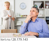 Mature couple find out relationship. Стоковое фото, фотограф Яков Филимонов / Фотобанк Лори