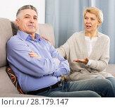 Купить «Mature couple find out relationship», фото № 28179147, снято 18 января 2019 г. (c) Яков Филимонов / Фотобанк Лори