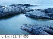 Купить «Small rocky islands or skerries,  Stockholm Archipelago, Sweden, August.», фото № 28184055, снято 24 сентября 2018 г. (c) Nature Picture Library / Фотобанк Лори
