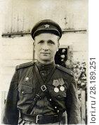Купить «Лейтенант советской армии. 23.08.1944», фото № 28189251, снято 13 июля 2020 г. (c) Retro / Фотобанк Лори
