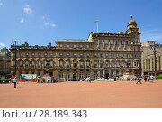 Купить «Площадь короля Георга в Глазго, Великобритания», фото № 28189343, снято 7 июня 2013 г. (c) Natalya Sidorova / Фотобанк Лори