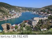 Купить «Балаклава, Черное море. Крым», фото № 28192435, снято 30 мая 2017 г. (c) Яна Королёва / Фотобанк Лори
