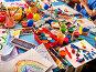 Купить «Group little girl with brush painting in kindergarten.», фото № 28192631, снято 25 марта 2017 г. (c) Gennadiy Poznyakov / Фотобанк Лори