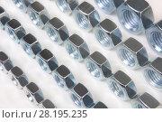 Купить «Metal nuts», фото № 28195235, снято 5 февраля 2015 г. (c) Юрий Бизгаймер / Фотобанк Лори