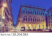 Evening view of Piazza San Lorenzo, Genoa (2017 год). Стоковое фото, фотограф Яков Филимонов / Фотобанк Лори