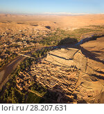 Aerial view on Ait Ben Haddou in Morocco (2018 год). Стоковое фото, фотограф Михаил Коханчиков / Фотобанк Лори
