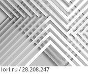 Купить «Abstract white background, geometric 3d», иллюстрация № 28208247 (c) EugeneSergeev / Фотобанк Лори